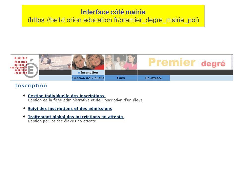Interface côté école (https://be1d.orion.education.fr/premier_degre_directeur_poi)