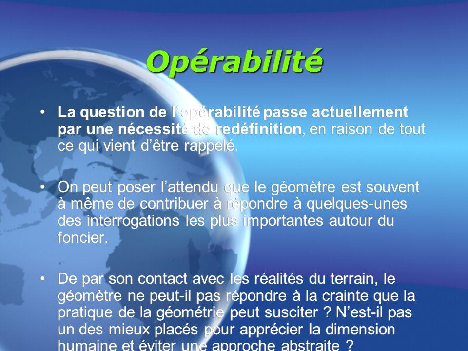 OpérabilitéOpérabilité La question de lopérabilité passe actuellement par une nécessité de redéfinition, en raison de tout ce qui vient dêtre rappelé.