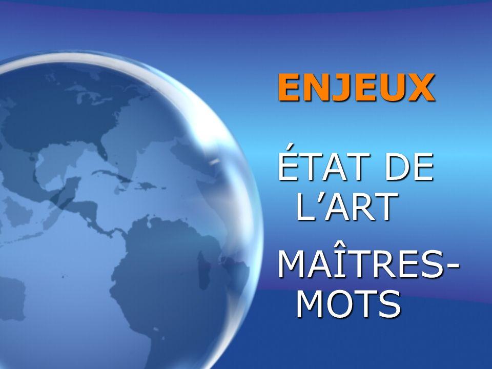 ENJEUX ÉTAT DE LART MAÎTRES- MOTS ENJEUX ÉTAT DE LART MAÎTRES- MOTS