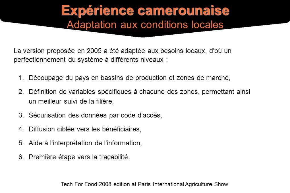 Tech For Food 2008 edition at Paris International Agriculture Show La version proposée en 2005 a été adaptée aux besoins locaux, doù un perfectionneme