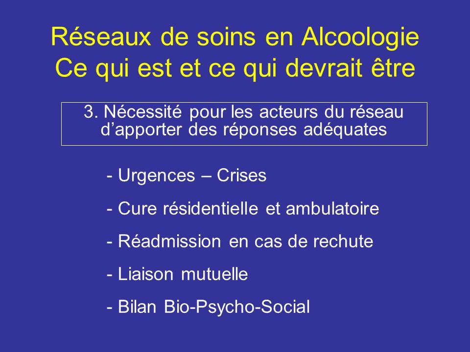 Réseaux de soins en Alcoologie Ce qui est et ce qui devrait être 4.