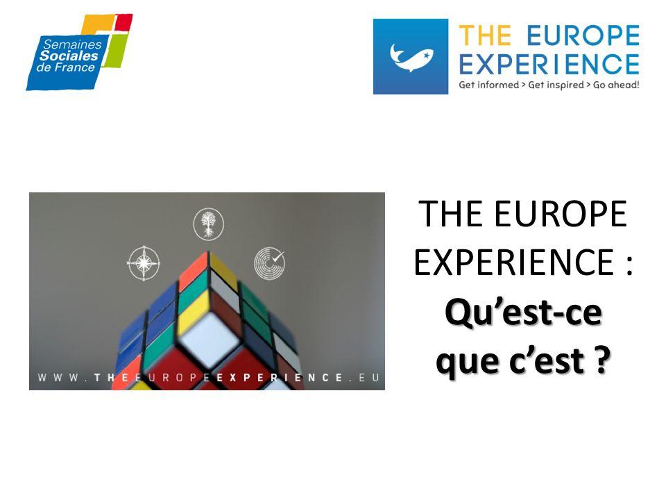 THE EUROPE EXPERIENCE Il sagit dune plateforme Internet à linitiative dIXE et des SSF.