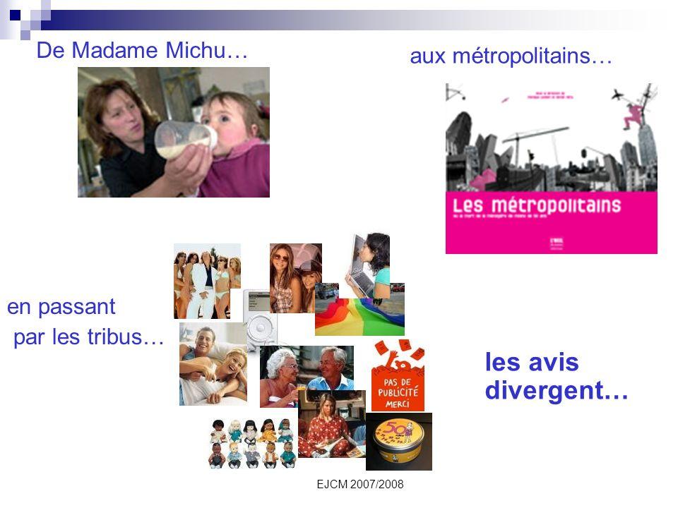 EJCM 2007/2008 De Madame Michu… aux métropolitains… en passant par les tribus… les avis divergent…