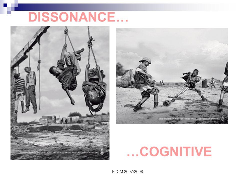 EJCM 2007/2008 DISSONANCE… …COGNITIVE