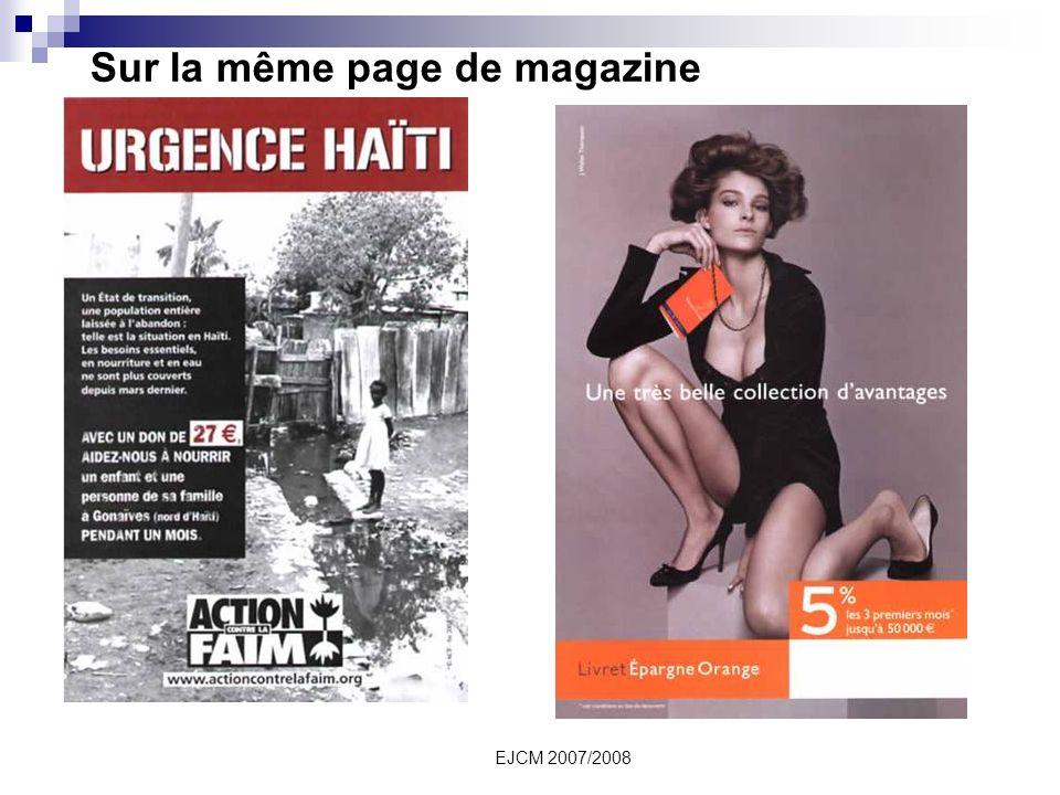 EJCM 2007/2008 Sur la même page de magazine