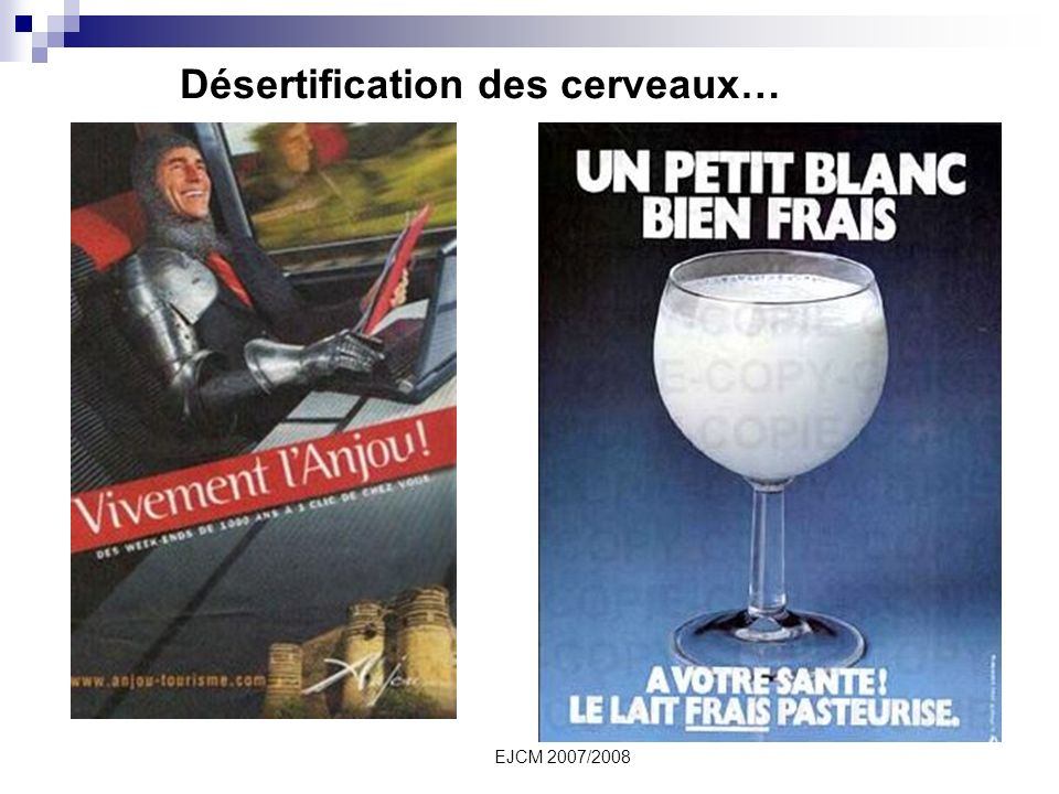 EJCM 2007/2008 Désertification des cerveaux…