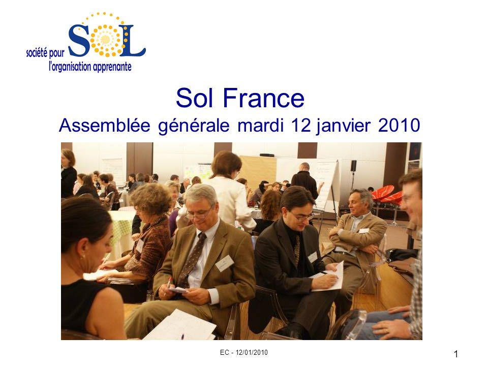 EC - 12/01/2010 1 Sol France Assemblée générale mardi 12 janvier 2010
