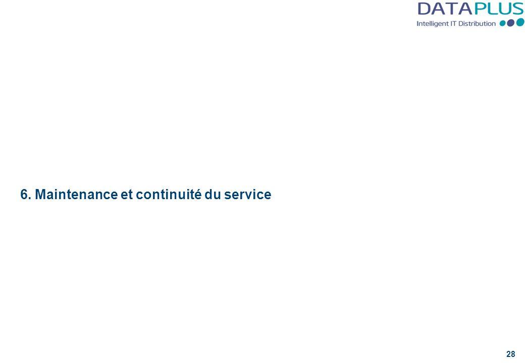 6. Maintenance et continuité du service 28