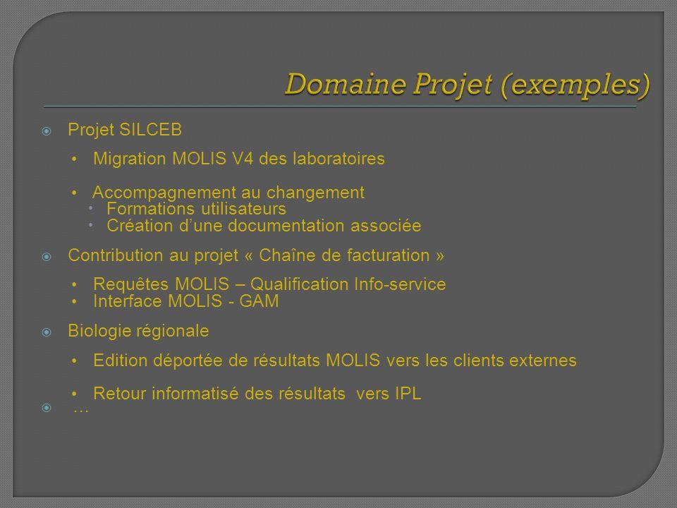 Projet SILCEB Migration MOLIS V4 des laboratoires Accompagnement au changement Formations utilisateurs Création dune documentation associée Contributi