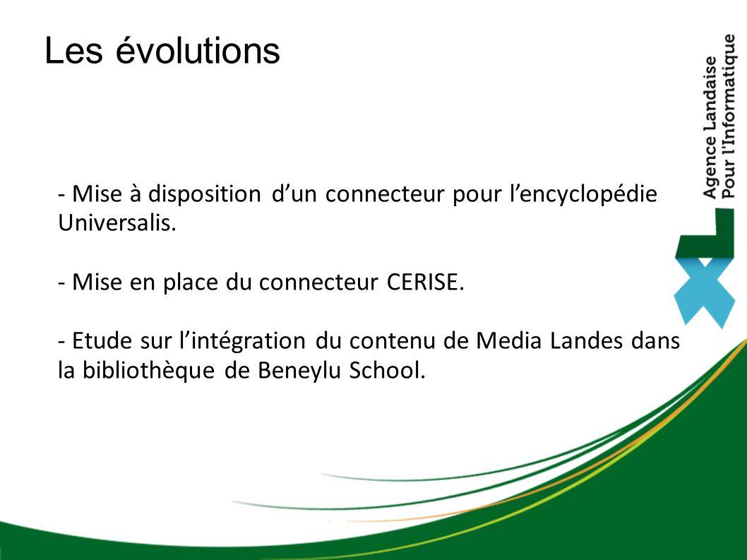 - Mise à disposition dun connecteur pour lencyclopédie Universalis.