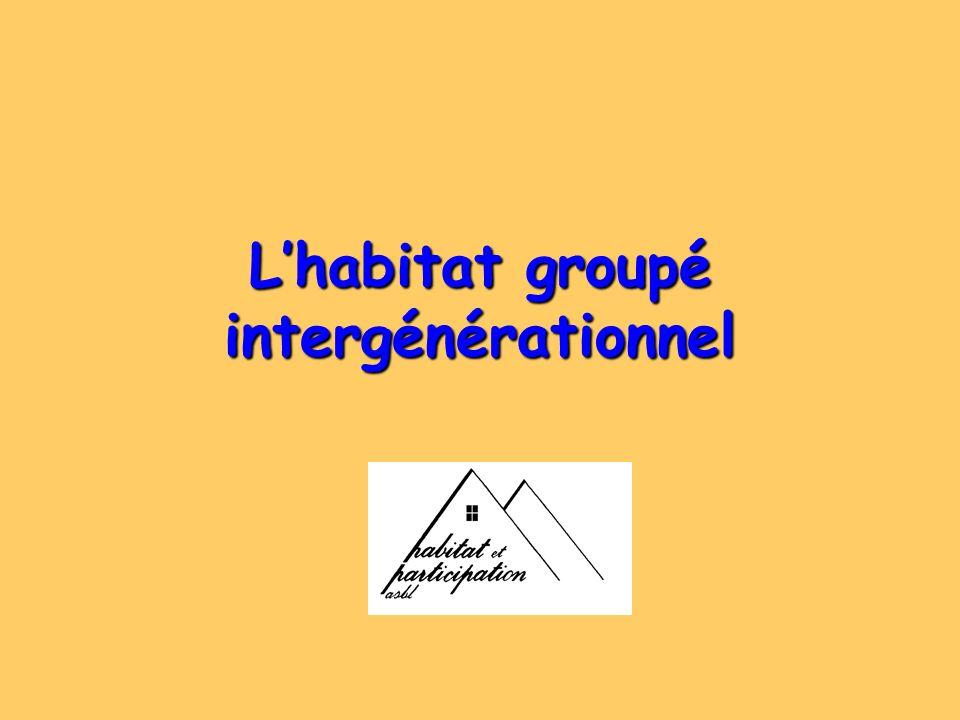 Lhabitat groupé intergénérationnel