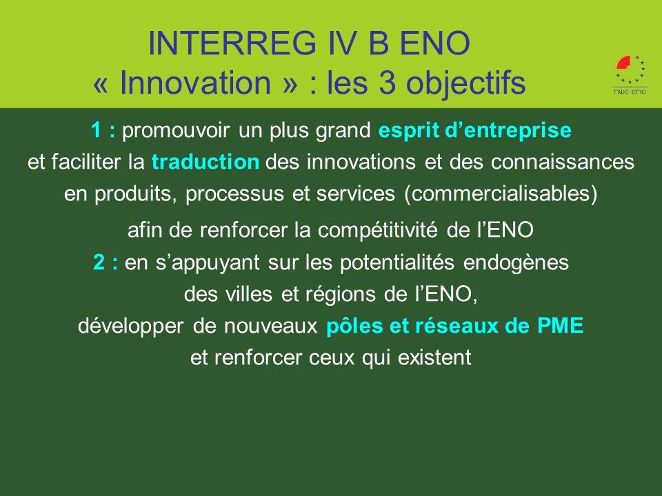 1 : promouvoir un plus grand esprit dentreprise et faciliter la traduction des innovations et des connaissances en produits, processus et services (co