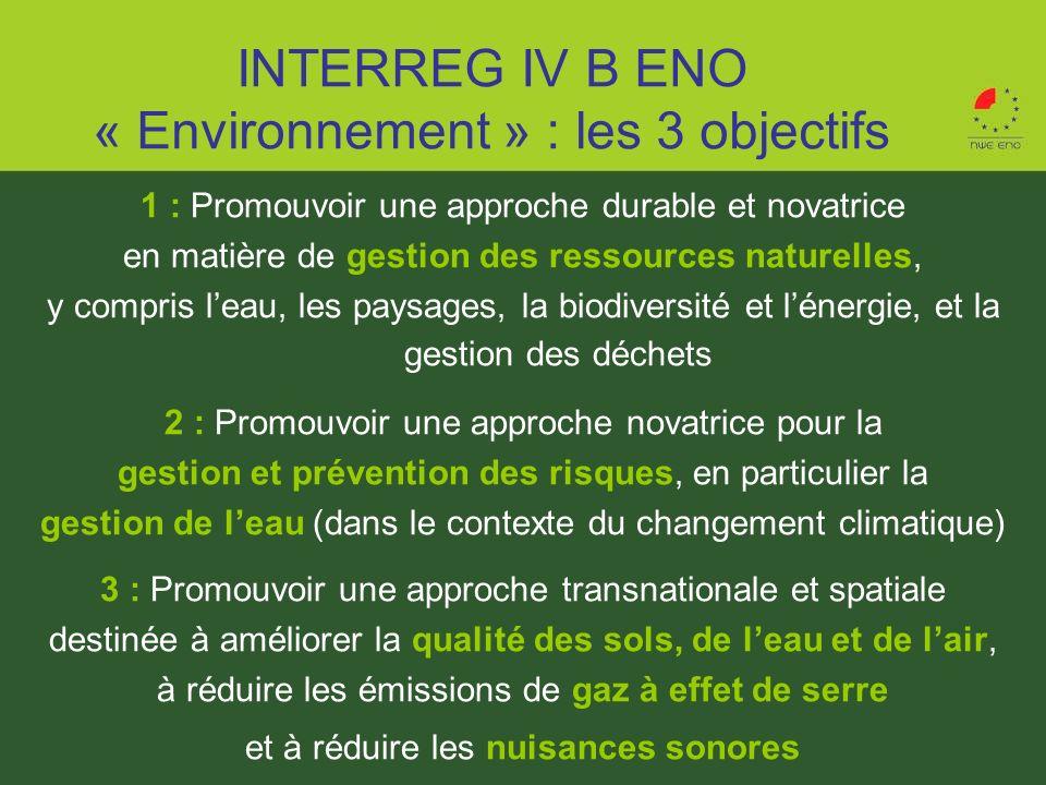 1 : Promouvoir une approche durable et novatrice en matière de gestion des ressources naturelles, y compris leau, les paysages, la biodiversité et lén