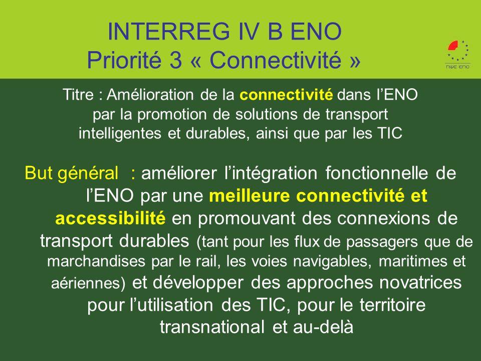 Titre : Amélioration de la connectivité dans lENO par la promotion de solutions de transport intelligentes et durables, ainsi que par les TIC But géné