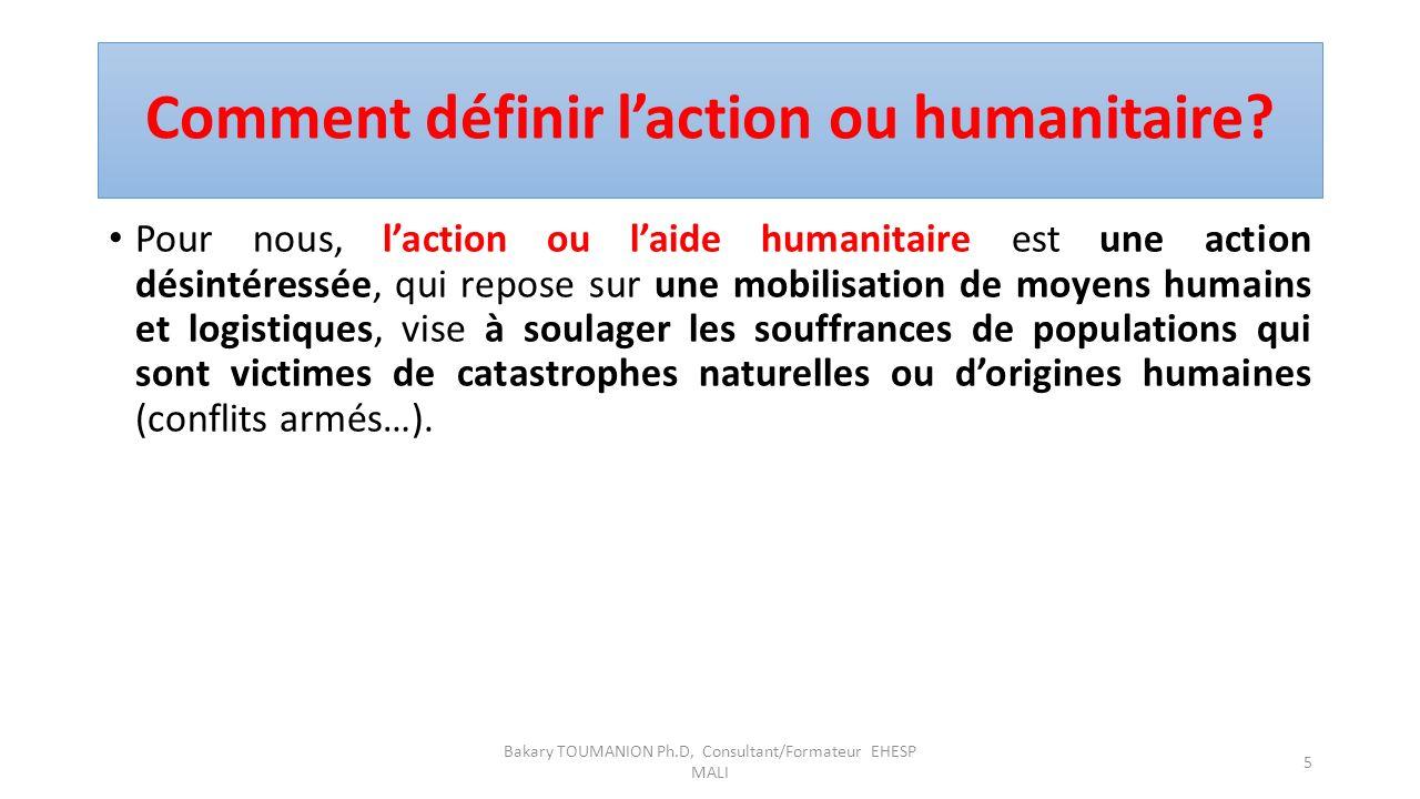 Action Humanitaire ou Droit Humanitaire Le droit humanitaire est le droit qui est appliqué en temps de conflit armé, et qui veut protéger les civils a