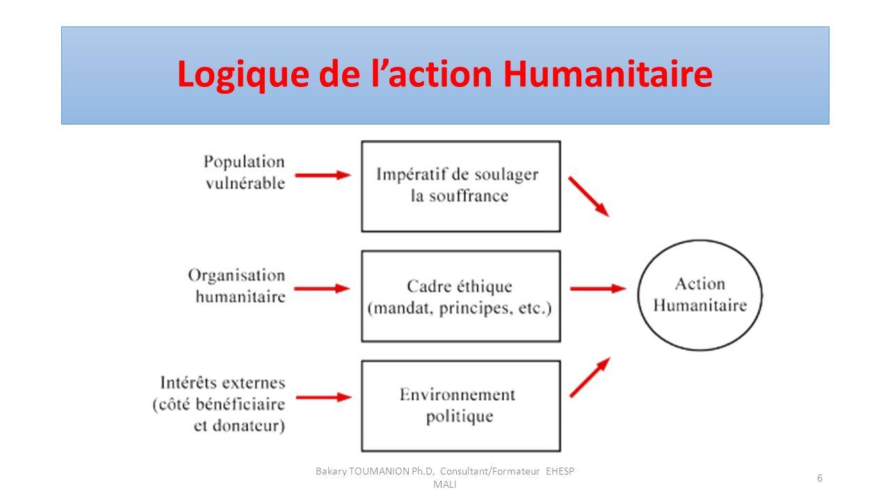 Logique de laction Humanitaire Bakary TOUMANION Ph.D, Consultant/Formateur EHESP MALI 6