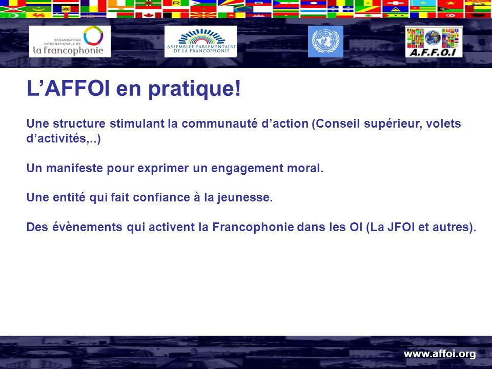 www.affoi.org LAFFOI en pratique.