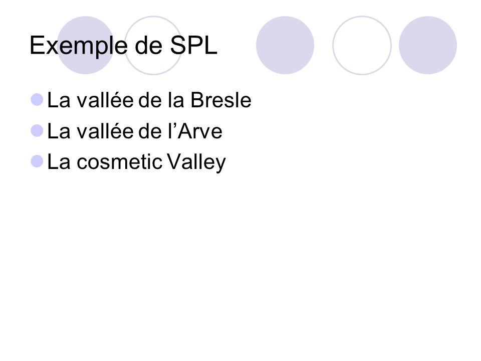 Exemple de SPL La vallée de la Bresle La vallée de lArve La cosmetic Valley