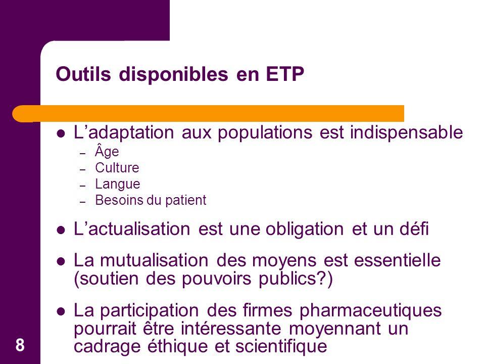 8 Ladaptation aux populations est indispensable – Âge – Culture – Langue – Besoins du patient Lactualisation est une obligation et un défi La mutualis