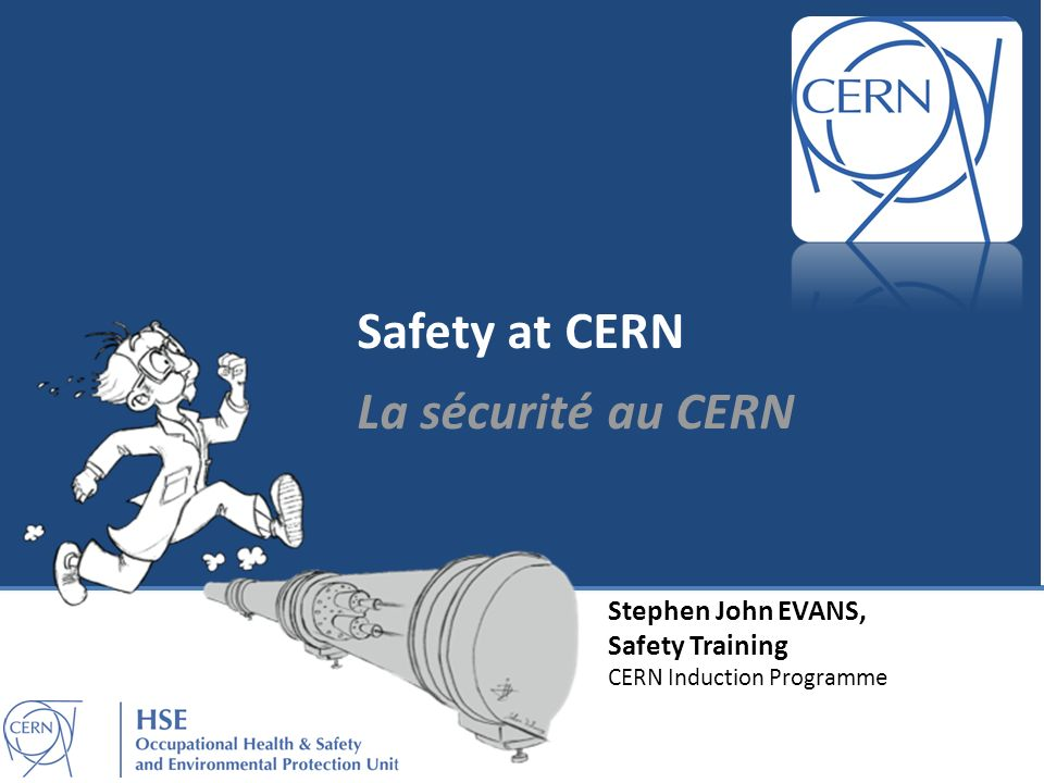 Professional accidents in 2012 Accidents professionnels en 2012 Professional accidents in 2012 Accidents professionnels en 2012 Falls Handling Hits & false move Road traffic Tools Others 504030201006070 Number of Accidents Type of Accidents 18370 persons were working on the CERN site in 2012