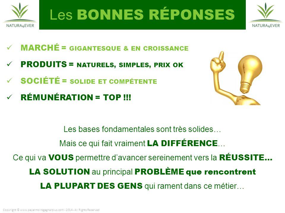MARCHÉ = GIGANTESQUE & EN CROISSANCE PRODUITS = NATURELS, SIMPLES, PRIX OK SOCIÉTÉ = SOLIDE ET COMPÉTENTE RÉMUNÉRATION = TOP !!.