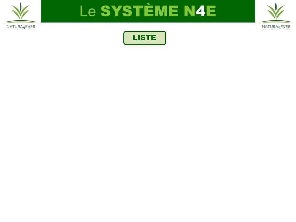 LISTE Le SYSTÈME N4E