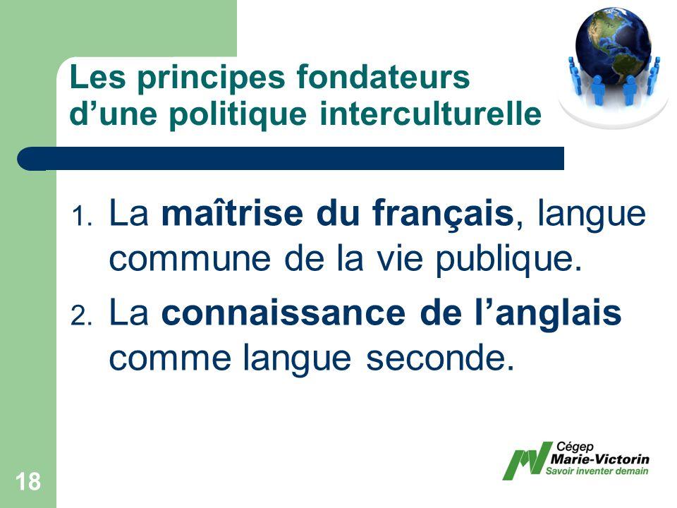 Les principes fondateurs dune politique interculturelle 1.
