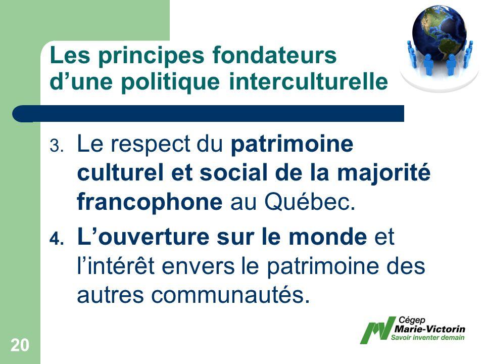 Les principes fondateurs dune politique interculturelle 3.