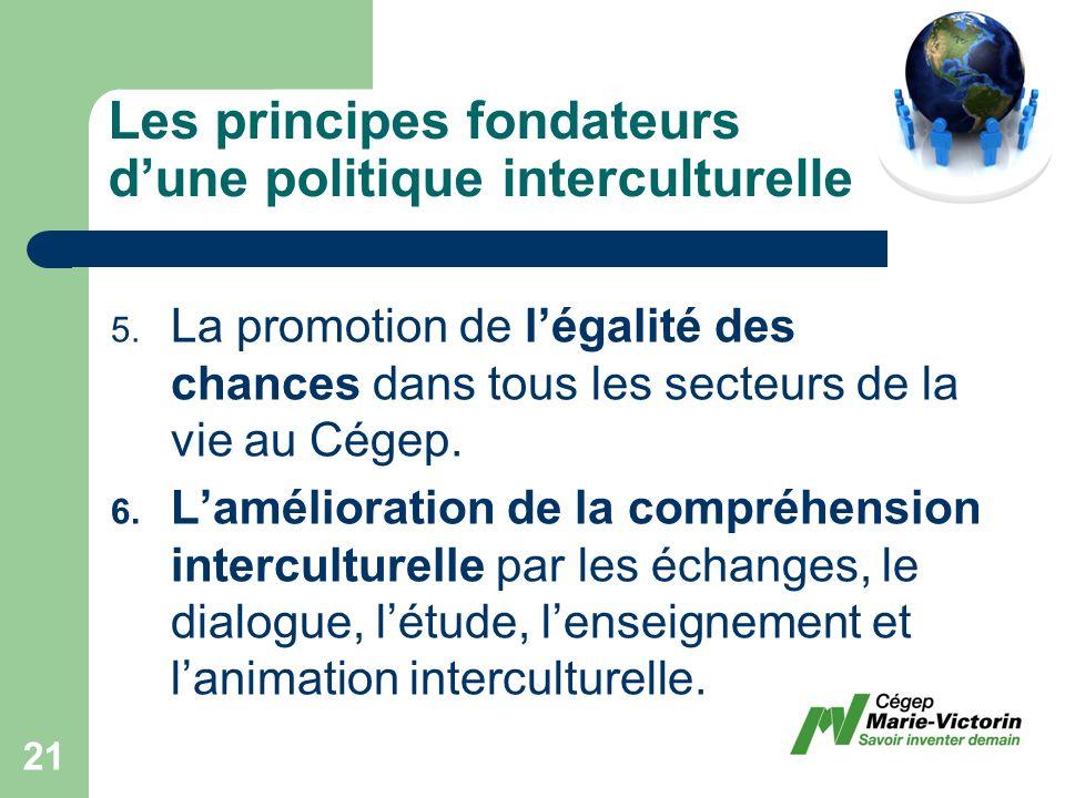 Les principes fondateurs dune politique interculturelle 5.