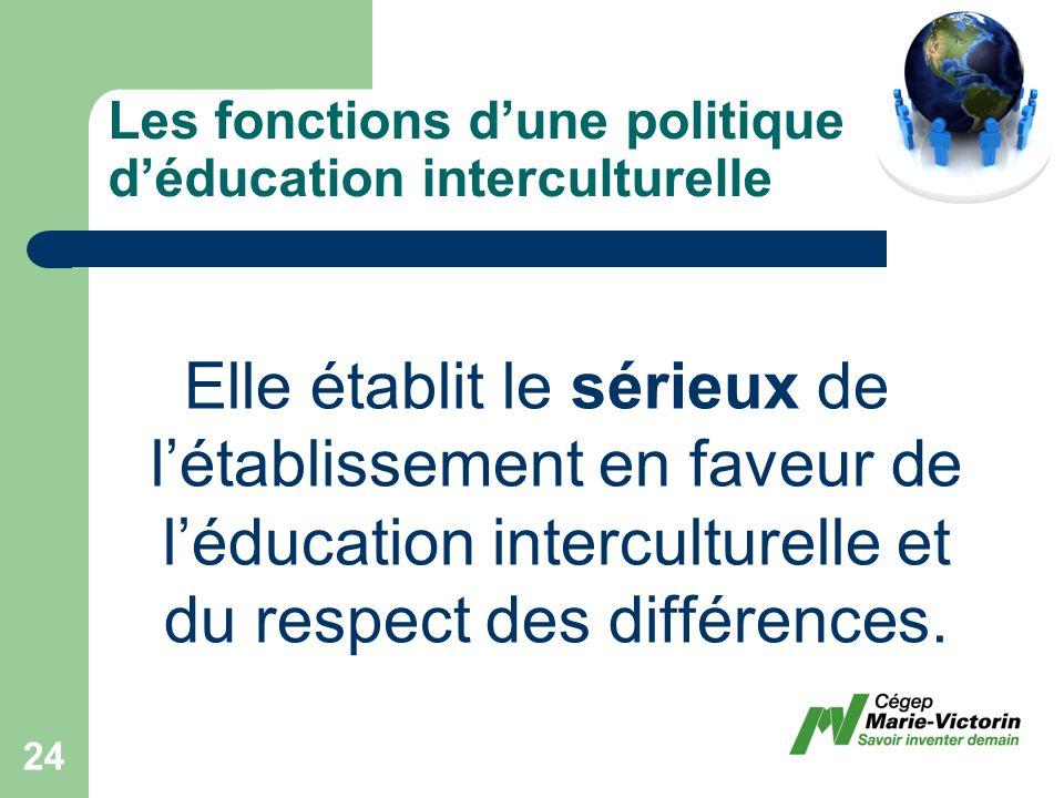 Elle établit le sérieux de létablissement en faveur de léducation interculturelle et du respect des différences.