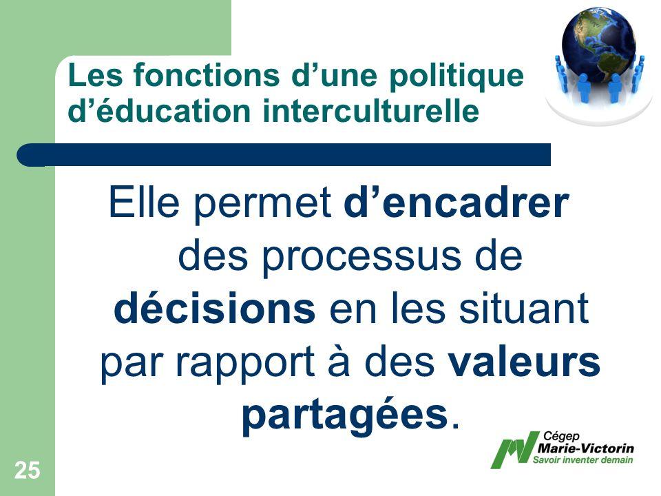 Elle permet dencadrer des processus de décisions en les situant par rapport à des valeurs partagées.