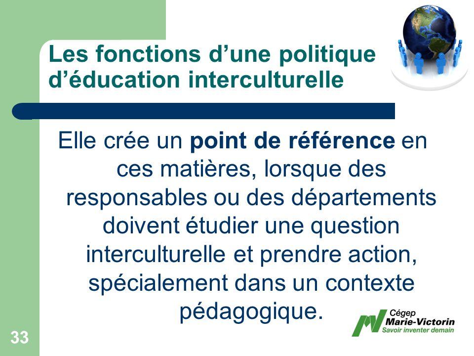 Elle crée un point de référence en ces matières, lorsque des responsables ou des départements doivent étudier une question interculturelle et prendre action, spécialement dans un contexte pédagogique.