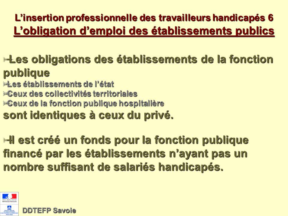 Linsertion professionnelle des travailleurs handicapés - 5 Une politique publique de formation concertée Les interventions publiques concernant la pol