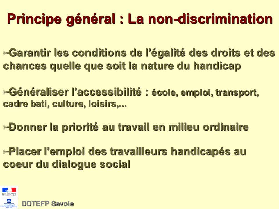 Loi du 11 février 2005 pour légalité des droits et des chances, la participation et la citoyenneté des personnes handicapées DDTEFP Savoie 1/12