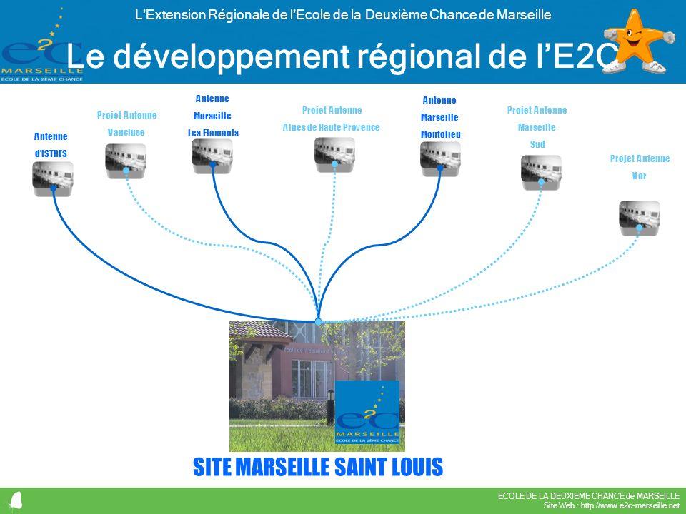 ECOLE DE LA DEUXIEME CHANCE de MARSEILLE Site Web : http://www.e2c-marseille.net LExtension Régionale de lEcole de la Deuxième Chance de Marseille Le