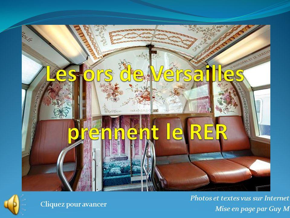 Le premier train aux couleurs du château de Versailles a été inauguré le 16 mai par Guillaume Pepy, président de SNCF, et Catherine Pégard, présidente de lÉtablissement public du Château, du musée et du domaine national de Versailles.