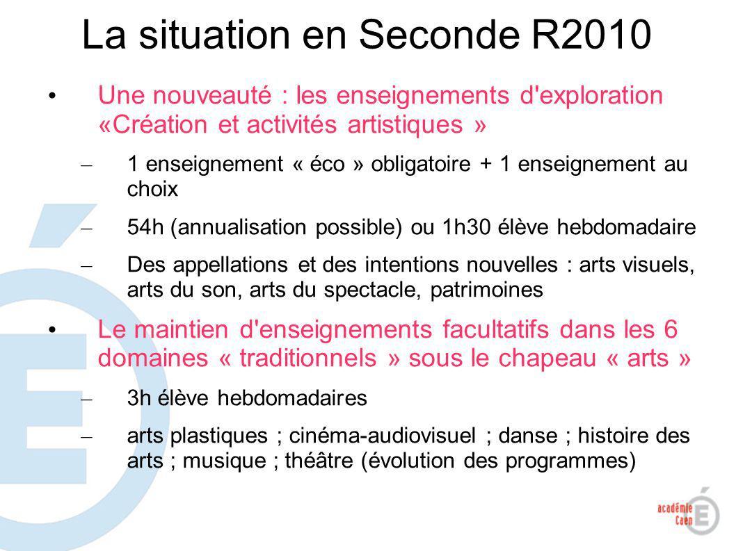 4 Les évolutions à R2011&12 En Première (2011) et Terminale (2012) – Un enseignement obligatoire (« spécialité») au choix en série L (5h élève hebdomadaires) – 1 ou 2 enseignements facultatifs au choix (3h à 6h élève hebdomadaires)
