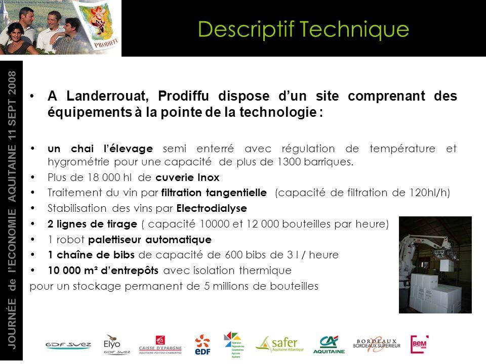 JOURNÉE de lECONOMIE AQUITAINE 11 SEPT 2008 A Landerrouat, Prodiffu dispose dun site comprenant des équipements à la pointe de la technologie : un cha