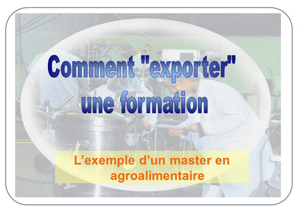 Lexemple dun master en agroalimentaire