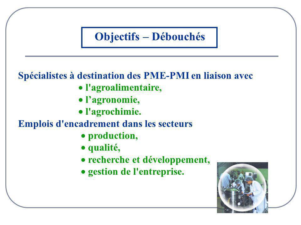 Spécialistes à destination des PME-PMI en liaison avec l agroalimentaire, lagronomie, l agrochimie.