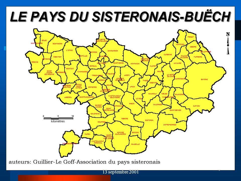 7 Données de Cadrage-1 Le Pays du Sisteronais-Buëch, cest 74 communes Une population denviron 24 000 habitants Une superficie de 1700 km² Soit une densité de 14 hab/km²