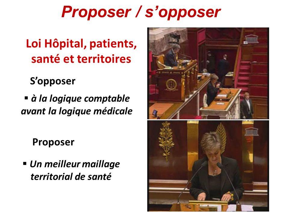 Loi Hôpital, patients, santé et territoires à la logique comptable avant la logique médicale Un meilleur maillage territorial de santé Sopposer Propos