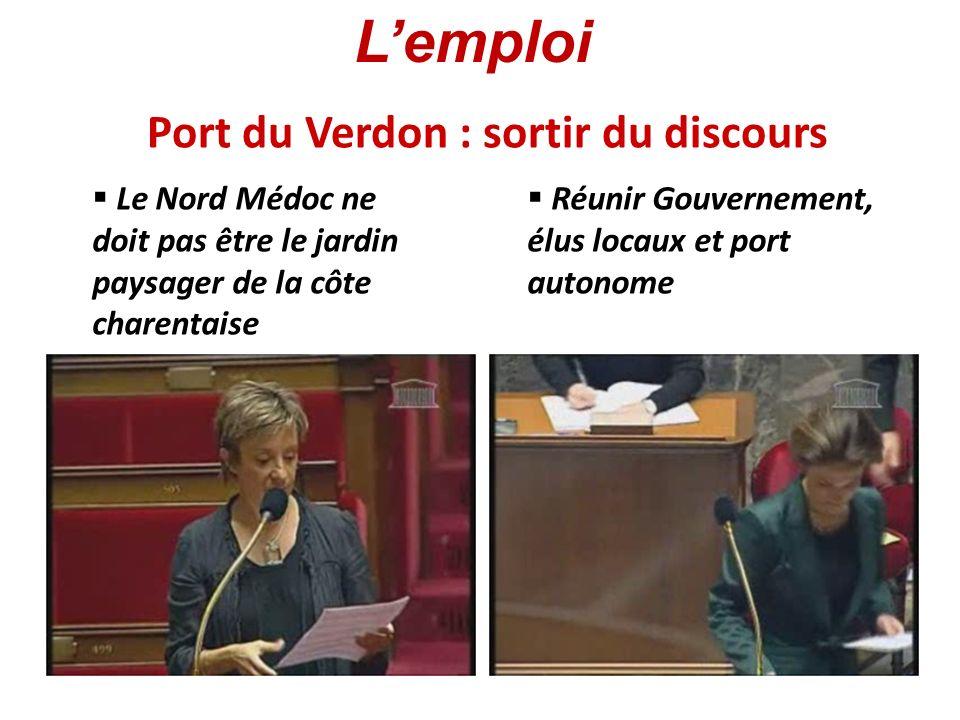 Port du Verdon : sortir du discours Le Nord Médoc ne doit pas être le jardin paysager de la côte charentaise Réunir Gouvernement, élus locaux et port