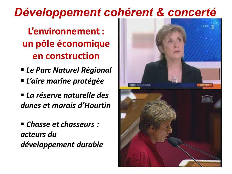Lenvironnement : un pôle économique en construction Laire marine protégée Le Parc Naturel Régional Chasse et chasseurs : acteurs du développement dura