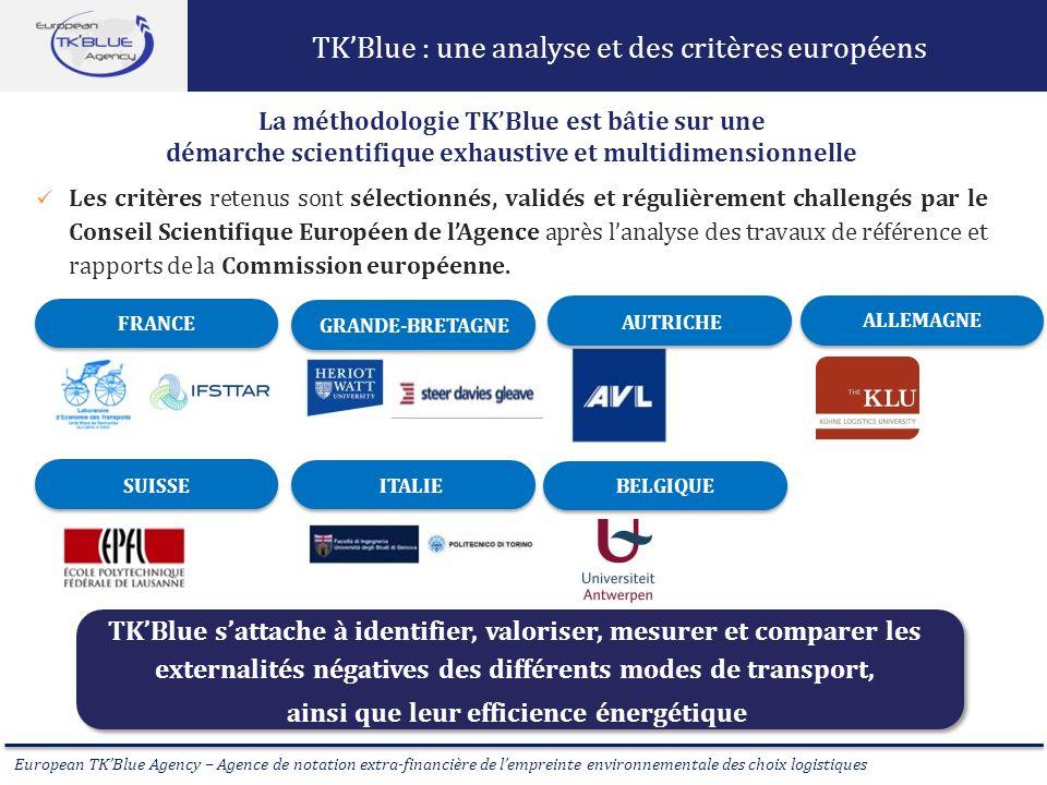 European TKBlue Agency – Agence de notation extra-financière de lempreinte environnementale des choix logistiques TKBlue sattache à identifier, valori