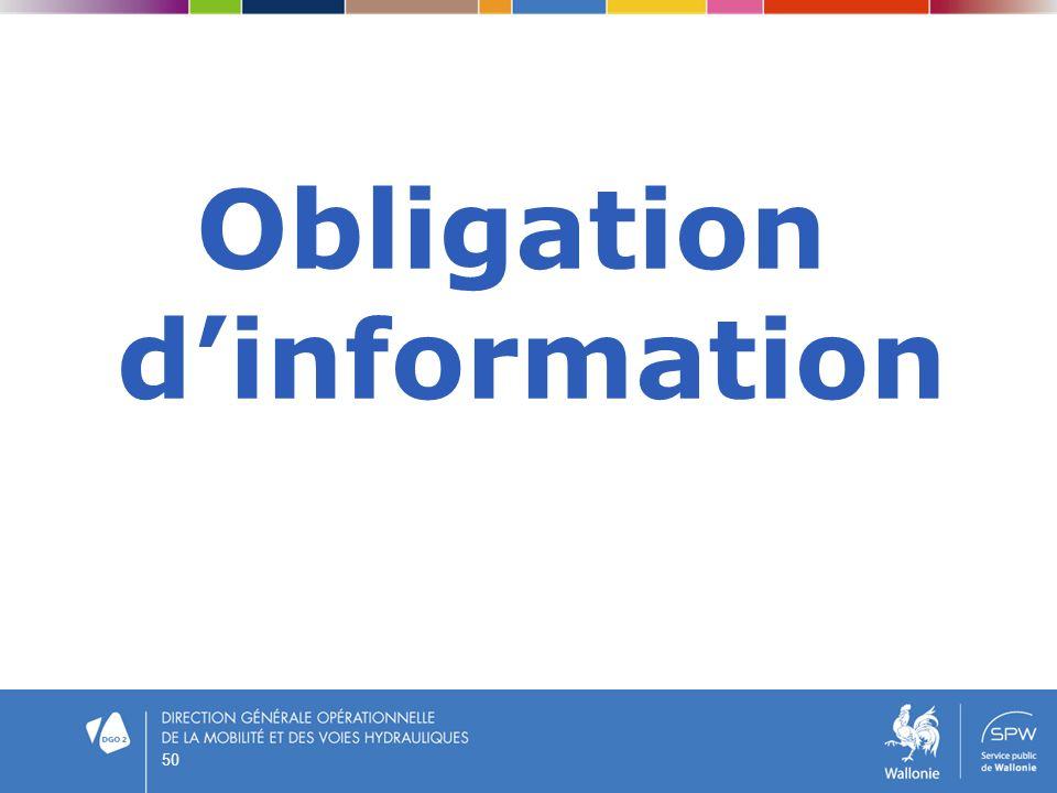 Obligation dinformation 50