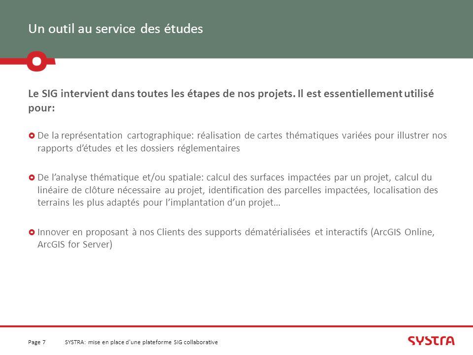 La Vision du projet Page 18SYSTRA: mise en place d une plateforme SIG collaborative Gérer les droits des utilisateurs sur les fonctionnalités et les données