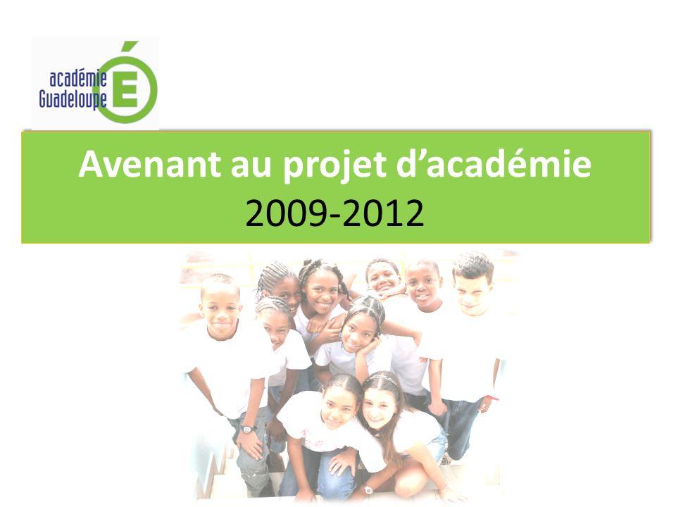 Avenant au projet dacadémie 2009-2012