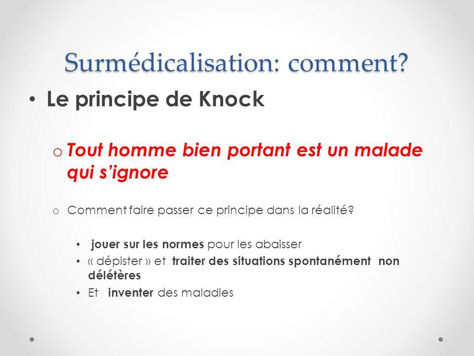 Surmédicalisation: comment.