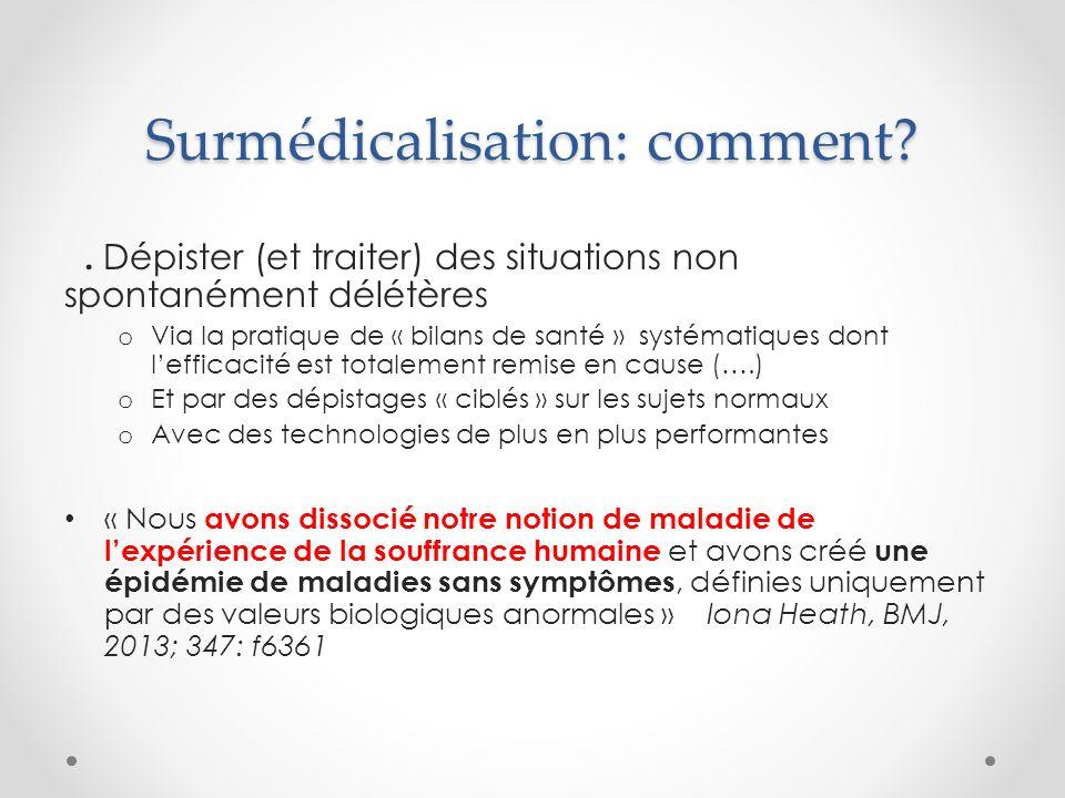 Surmédicalisation: comment .